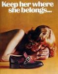 """""""Держи ее там, где должно"""" - реклама обуви"""